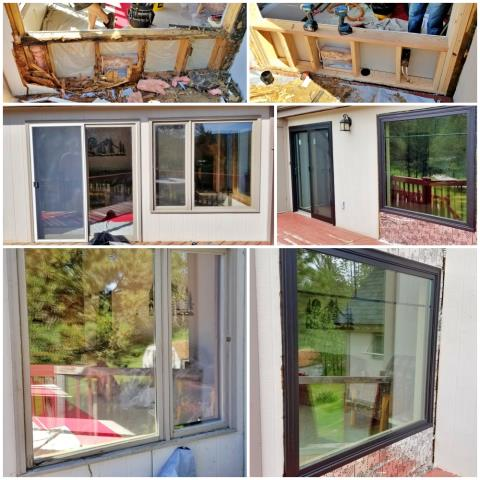 Sturgis, SD - This Sturgis home upgraded from old, rotting wooden windows to new Renewal by Andersen windows and a patio door.