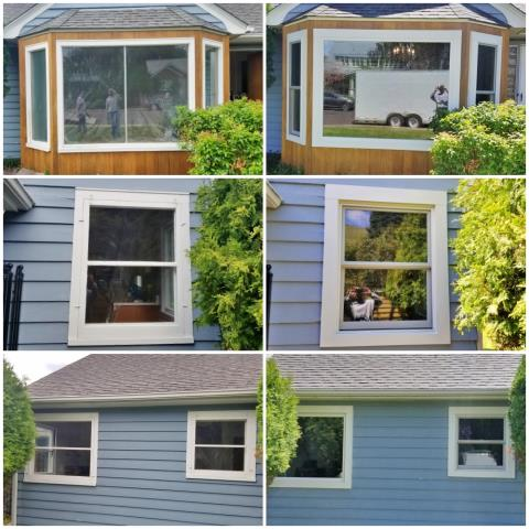 Missoula, MT - This Missoula home increased their curb appeal and energy efficiency with their new Renewal by Andersen Fibrex windows.