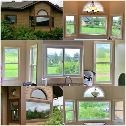 Bozeman, MT - We replaced aluminum-clad windows with new Renewal by Andersen Fibrex windows in this Bozeman home.