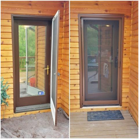 Florence, MT - This Florence home replaced a single panel wood door with a Renewal by Andersen A-Series hinged door.