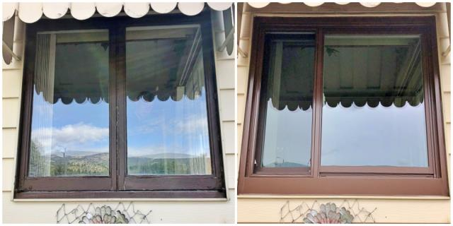 Anaconda, MT - This Anaconda home replaced their old wooden windows with new Renewal by Andersen Fibrex windows.