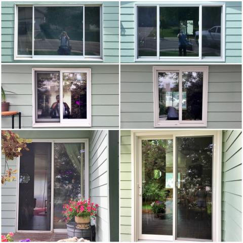 Missoula, MT - This Missoula home upgraded windows and a patio door to Renewal by Andersen products, increasing their energy efficiency and glass clarity.  They'll be better able to enjoy the views of their beautiful landscaping now!