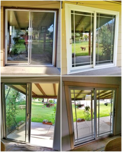Missoula, MT - This Missoula home replaced their old patio door with a Renewal by Andersen slider.  Their new door is beautiful, crystal clear, and energy efficient!