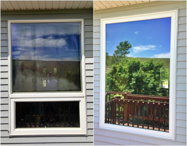 Casper, WY - This Casper home replaced their faulty vinyl windows with new Renewal by Andersen Fibrex windows.