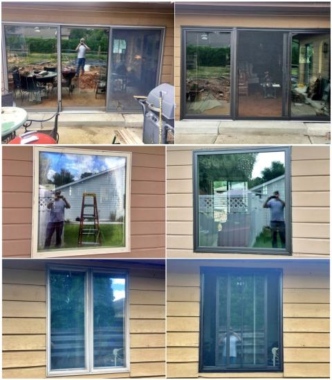 Billings, MT - We replaced the old mismatched windows and the patio door with new Renewal by Andersen products in this Billings home.