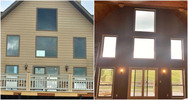 Lewistown, MT - This Lewistown home will definitely be enjoying their views through their new Renewal by Andersen windows and patio door!