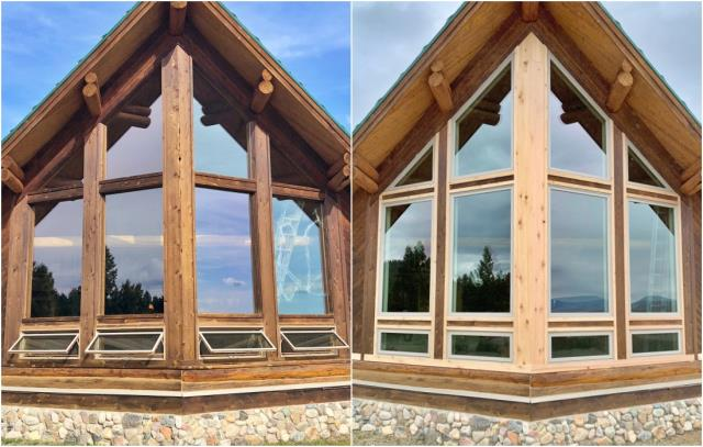 Whitehall, MT - This gorgeous Whitehall home received a major face-lift with these new Renewal by Andersen Fibrex windows.