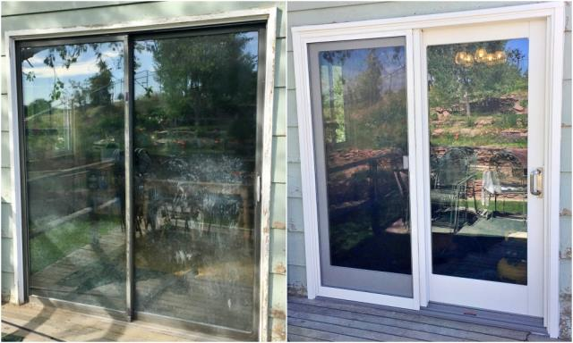 Casper, WY - This Casper home replaced their old patio door with a Renewal by Andersen New Frenchwood Series 400 sliding glass door.