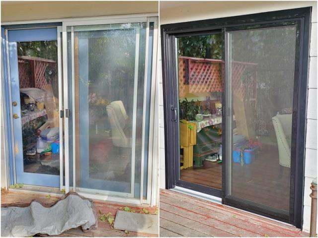 Townsend, MT - This Townsend home replaced their patio door with a new Renewal by Andersen slider.