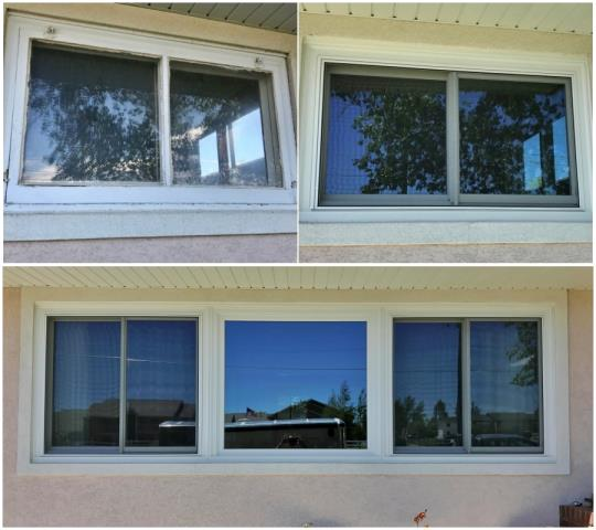 Laramie, WY - This Laramie home upgraded their old wooden windows to new Renewal by Andersen Fibrex windows.  What a beautiful transformation!