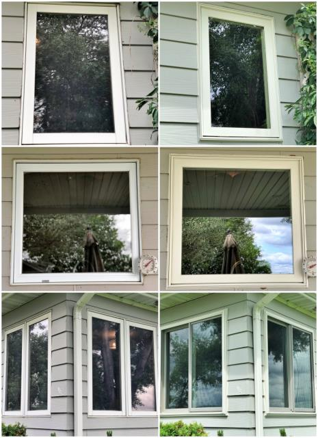 Sun River, MT - We replaced 6 windows on this Sun River farmhouse.  These Renewal by Andersen Fibrex efficient windows will help with energy cost while looking great!