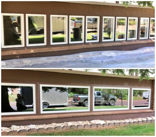Laramie, WY - In this Laramie home, ten windows became four!  Their Renewal by Andersen Fibrex windows will increase efficiency and clarity!