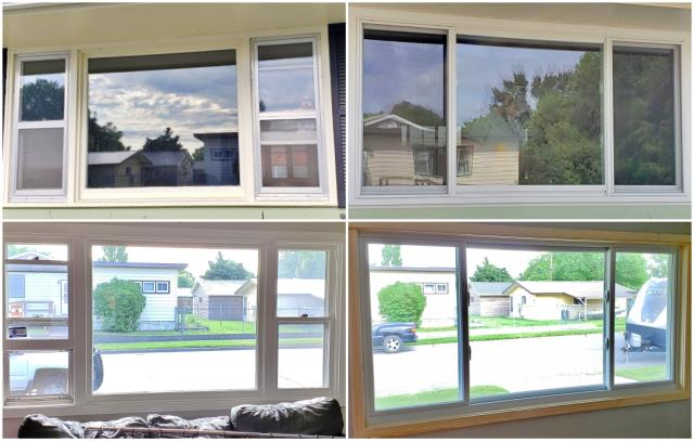 Billings, MT - This Billings home replaced their wood brickmold windows with full frame Renewal by Andersen Fibrex windows.