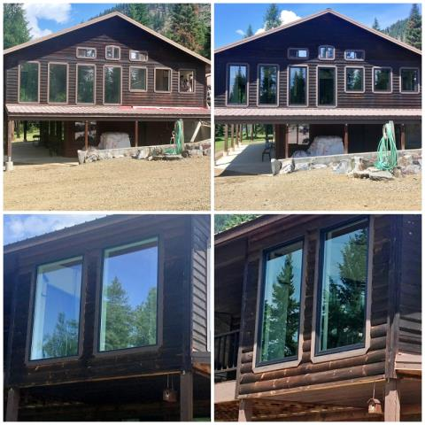 Thompson Falls, MT - This Thompson Falls home replaced their old windows with new Renewal by Andersen Fibrex windows, and we love the little face-lift it gave the house!