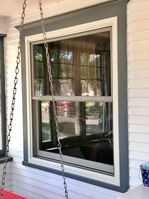 Great Falls, MT - This Great Falls home swapped out their painted shut window for a new, functional Renewal by Andersen Fibrex window!