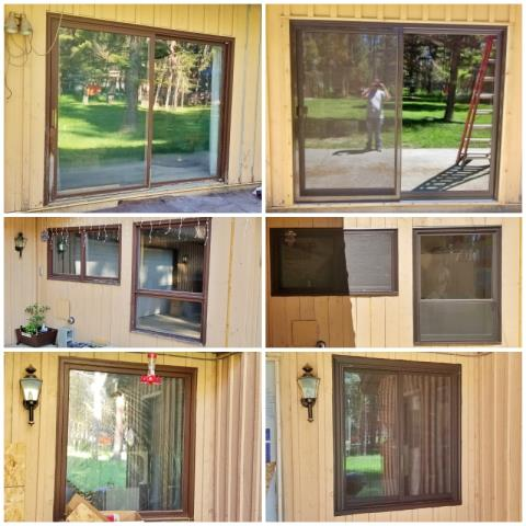 Lincoln, MT - This Lincoln home upgraded their windows and patio door to Renewal by Andersen Fibrex products.