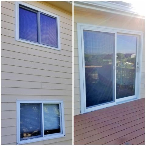 Rapid City, SD - This Rapid City home upgraded their windows and patio door to Renewal by Andersen Fibrex products.