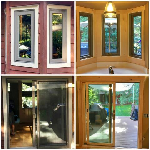 Whitefish, MT - This Whitefish home upgraded their windows and patio door to Renewal by Andersen Fibrex products.