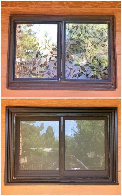 Casper, WY - This Casper home replaced their original aluminum frame window with single pane glass with a new Fibrex Renewal by Andersen gliding window.