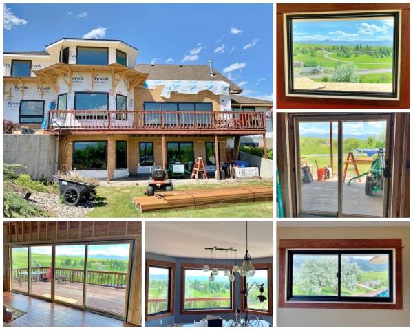 Bozeman, MT - Wow!!  We cannot wait to see what this Bozeman home looks at the end of their remodel, but we are certain their views are now even better!  Aluminum-clad windows were replaced with Renewal by Andersen Fibrex windows, as well as two new sliders.