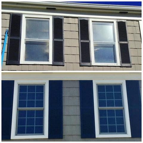 Casper, WY - This Casper home upgraded their second story windows to Renewal by Andersen Fibrex, increasing efficiency, clarity, value and visual appeal.  What an investment!