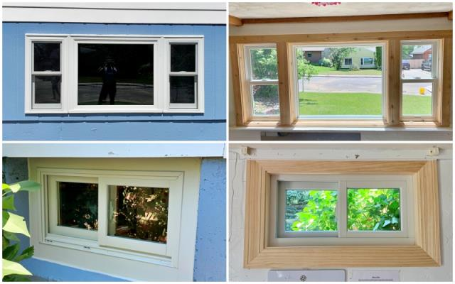 Great Falls, MT - This Great Falls home removed their old wood brick mold windows and replaced them with Renewal by Andersen Fibrex brick mold windows.