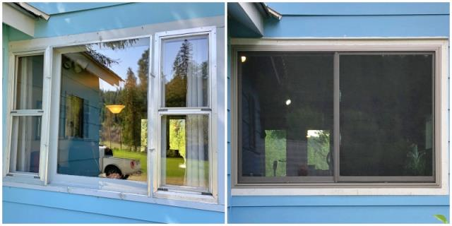 Whitefish, MT - This Whitefish home replaced three rotting wood windows with one Renewal by Andersen Fibrex double gliding window.
