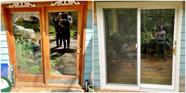 Whitefish, MT - This Whitefish home upgraded their old wooden door to a Renewal by Andersen Fibrex door.