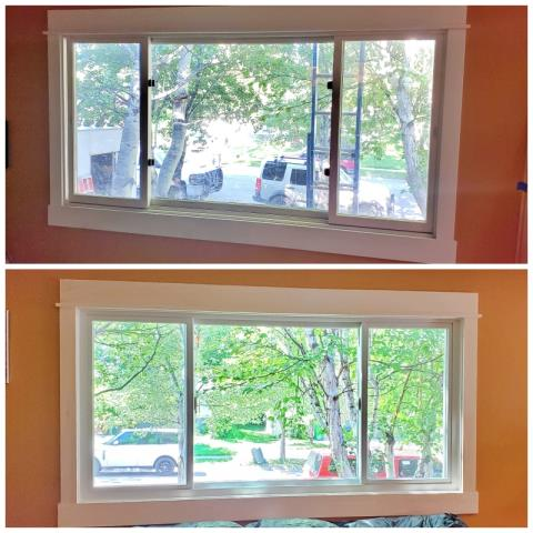 Bozeman, MT - This Bozeman home replaced their wooden slider with a Renewal by Andersen Fibrex gliding triple window.