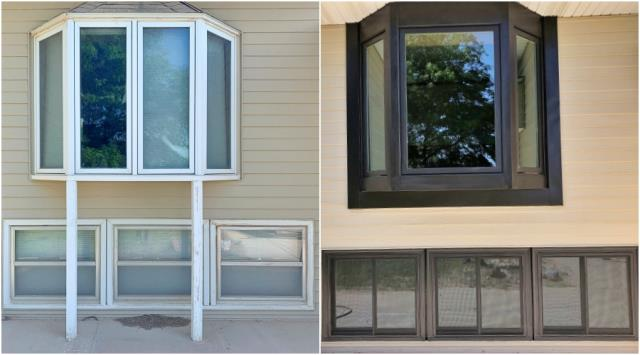 Scottsbluff, NE - This Scottsbluff home replaced their old wood windows with new Renewal by Andersen Fibrex windows, increasing their curb appeal and energy efficiency.