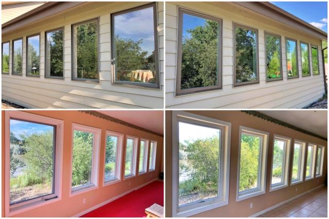 Glenrock, WY - This Glenrock home on the water just enhanced their views by upgrading to Renewal by Andersen Fibrex windows.