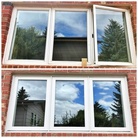 Laramie, WY - This Laramie home upgraded their old windows to Renewal by Andersen, increasing clarity, efficiency and curb appeal.