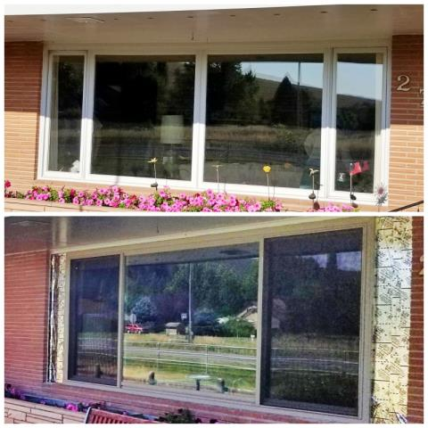 Missoula, MT - This Missoula home upgraded their picture window to a Renewal by Andersen Fibrex window.