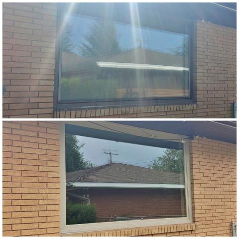 Butte, MT - This Butte home upgraded their window to a Renewal by Andersen Fibrex window, increasing their curb appeal and energy efficiency.