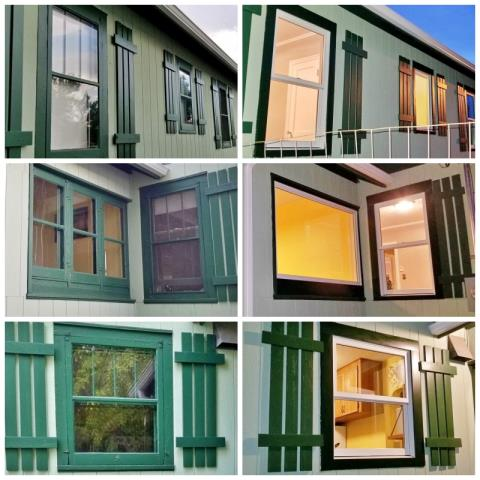 Rapid City, SD - This Rapid City home upgraded their old wooden windows to new Renewal by Andersen Fibrex, increasing their efficiency and their curb appeal.