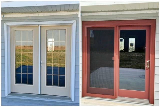 Evansville, WY - This Evansville home replaced their French door with a Renewal by Andersen Fibrex slider.