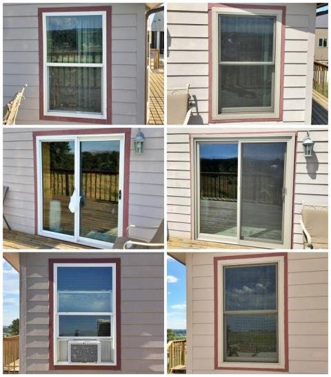 Shawnee, WY - This Shawnee home enhanced their curb appeal and their functionality when they updated their old windows and patio door with Renewal by Andersen Fibrex products.