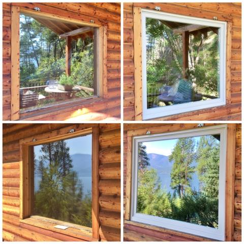 Polson, MT - This Polson home upgraded their old wood windows to Renewal by Andersen Fibrex windows, increasing their already beautiful views.