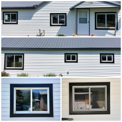 Columbia Falls, MT - This Columbia Falls home replaced their old vinyl windows with new Renewal by Andersen Fibrex windows, increasing their curb appeal and energy efficiency.