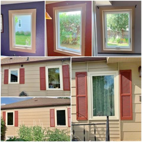 Butte, MT - This Butte home had their old brick-mold windows removed and replaced with Renewal by Andersen Fibrex windows.