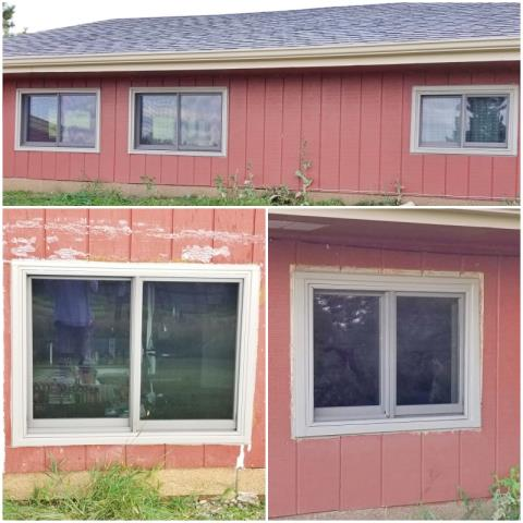 Rapid City, SD - This Rapid City home replaced their old rotting windows with new Renewal by Andersen Fibrex windows.