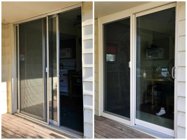 Sinclair, WY - This Sinclair home upgraded their old aluminum frame patio door with a Renewal by Andersen Fibrex gliding door.