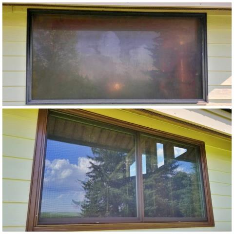 Martin, SD - This Martin home replaced their old metal framed windows with seal failure, with Renewal by Andersen Fibrex composite frame, fade resistant windows.