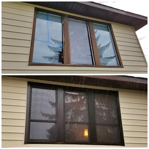 Missoula, MT - This Missoula home upgraded their old broken window to Renewal by Andersen Fibrex, increasing efficiency and curb appeal.