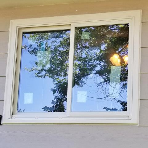Sturgis, SD - This Sturgis home replaced their old wood-clad 1980s windows with new Renewal by Andersen Fibrex windows.
