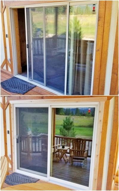 Victor, MT - This Victor home replaced their old patio door with a Renewal by Andersen Fibrex door.