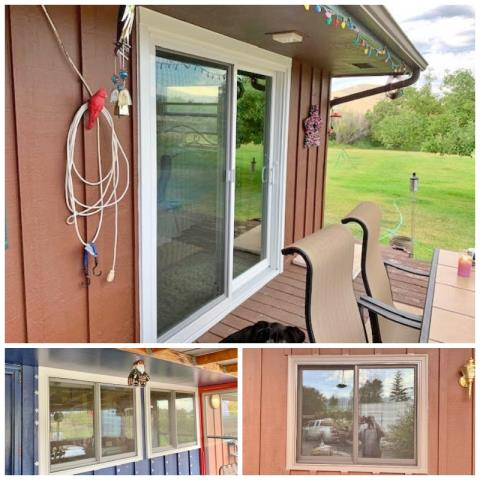 Silver Star, MT - This Silver Star home replaced their old brick-mold windows and patio door with Renewal by Andersen Fibrex windows and patio door.