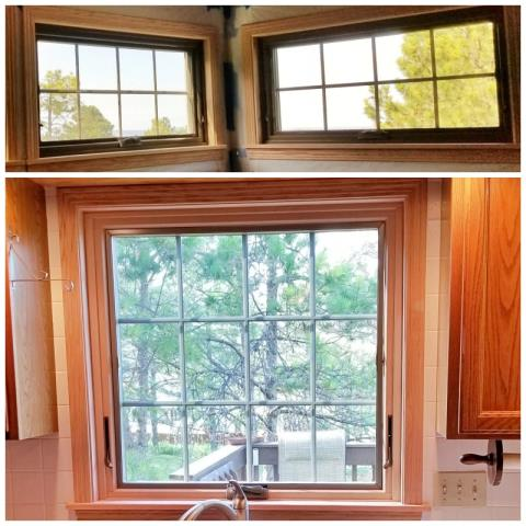Rapid City, SD - This Rapid City home upgraded their windows to Renewal by Andersen Fibrex, increasing clarity and efficiency.