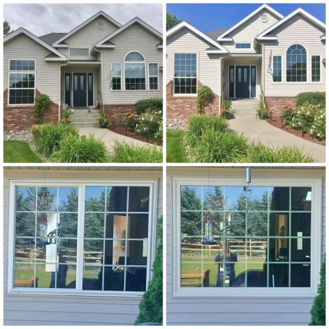 Kalispell, MT - This Kalispell home upgraded their vinyl windows to Renewal by Andersen Fibrex windows, increasing their energy efficiency.