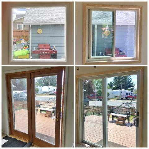 Butte, MT - This Butte home upgraded their old windows and patio door to Renewal by Andersen products.